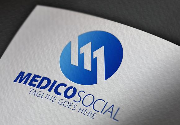 Medico Social M Letter Logo