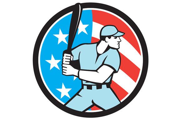 American Baseball Batter Hitter USA