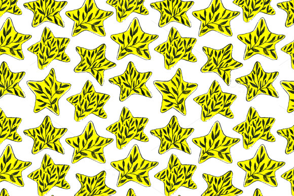 Floral Star Seamless Pattern
