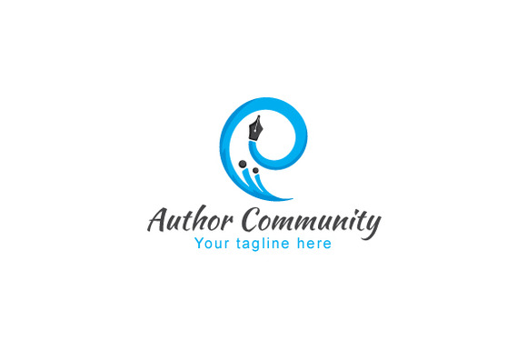 Author Community-Abstract Stock Logo
