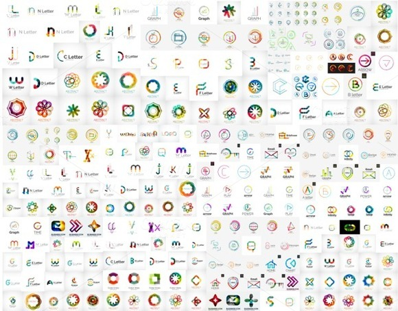 Giant Set Of Company Logo Designs