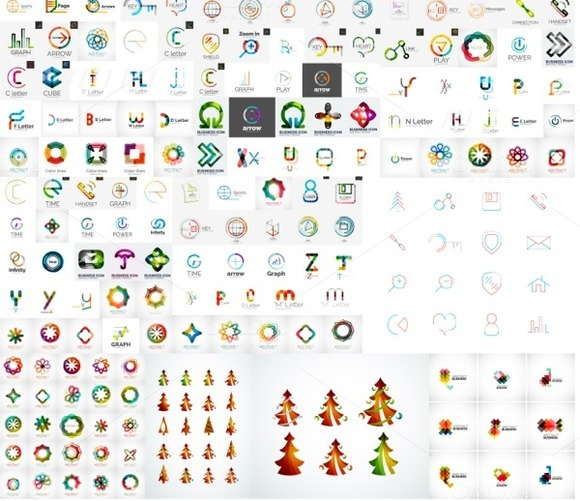 200 Sleek Line Logos