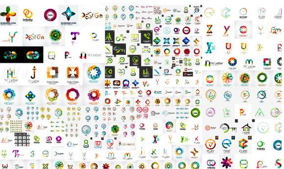 Big Set Of Abstract Company Logos