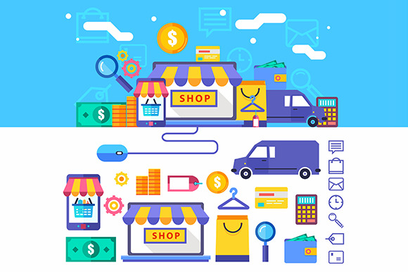 Online Shopping Vector Collection