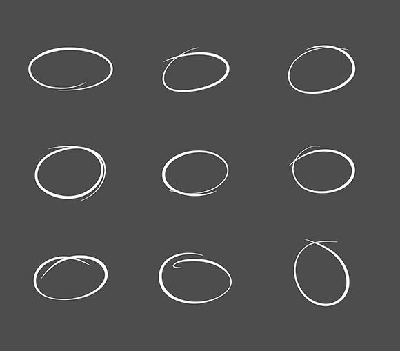 Hand Drawn Highlight Bubbles Vector