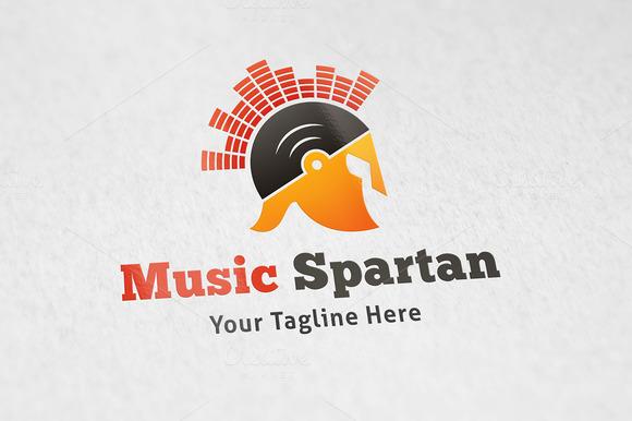 Music Spartan Logo Template