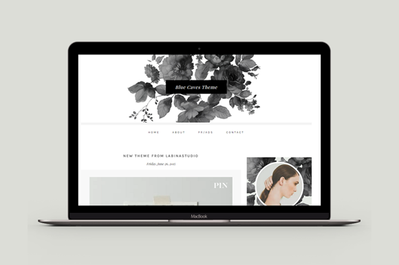 Responsive Blogger Template BlueC