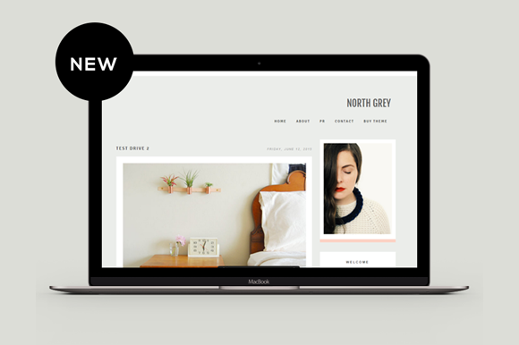 Blogger Template North Grey