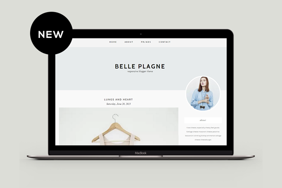 Responsive Blogger Template Belle