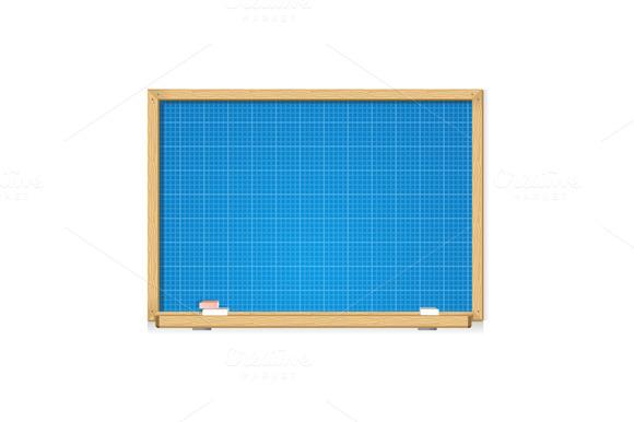 Vector Blueprint On Blackboard