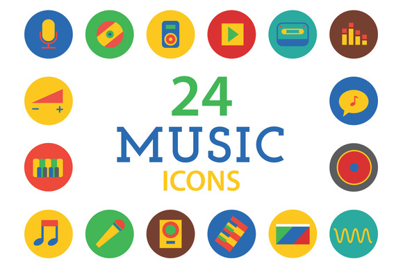 Music Icons Vector Set Sound Tools