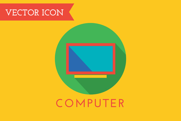 Computer Icon Vector Logo Technick