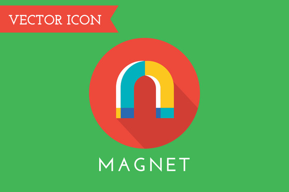 Magnet Icons Vector Set Shop Money