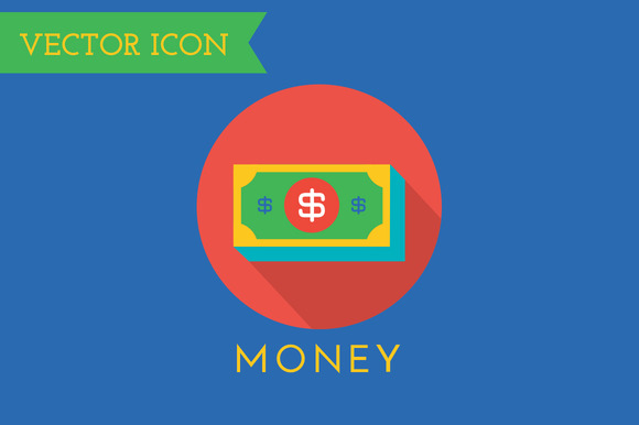 Money Icons Vector Set Shop Money