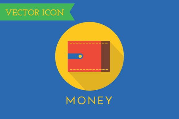 Wallet Icons Vector Set Shop Money
