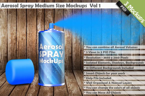 Aerosol Spray Can Mockup