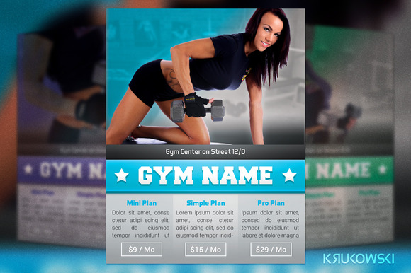 Simple Gym Flyer