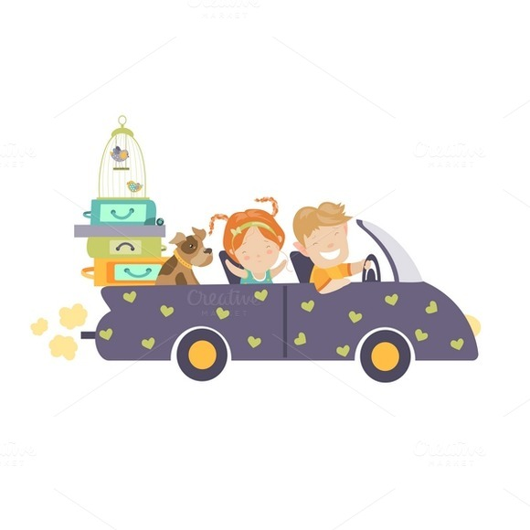 Couple Traveling By Car