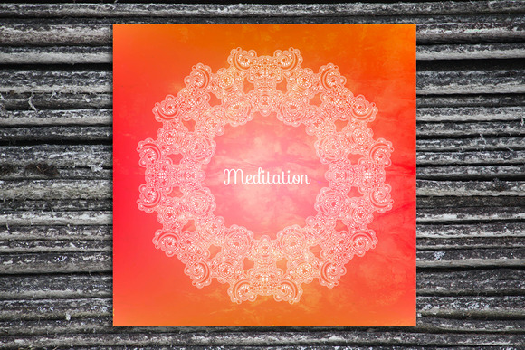 Meditation Decorative Card