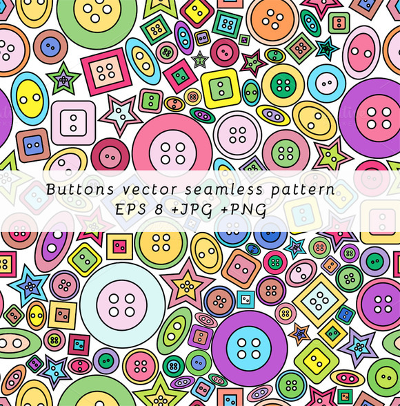 Coloorful Buttons Seamless Pattern