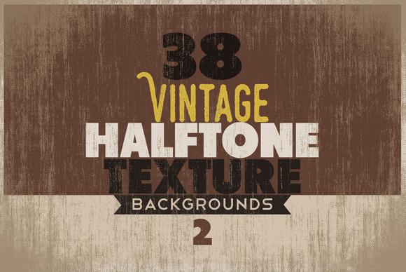 Vintage Halftone Texture BG 2
