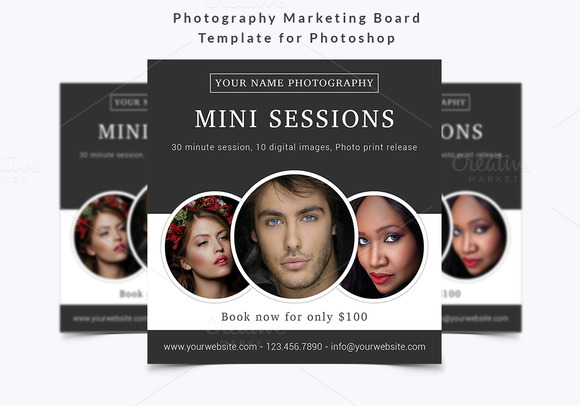 Photography Marketing Board Template