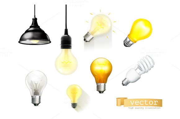 Light Bulbs Vector Icons