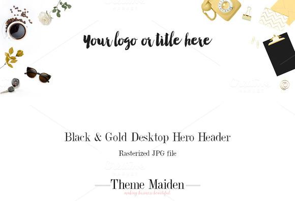 Black Gold Desktop Hero Header
