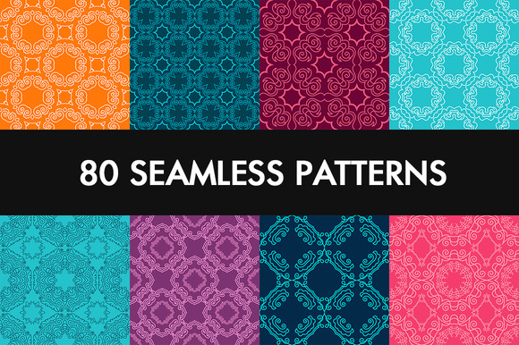 80 Seamless Vector Pattern Big Set