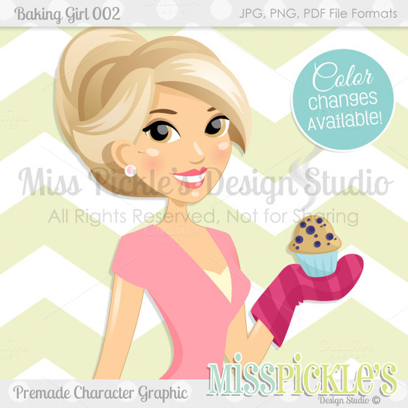Baking Girl 002- Commercial Graphic
