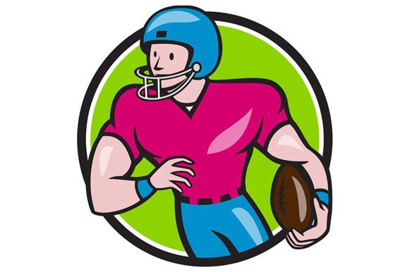 American Football Receiver Running C