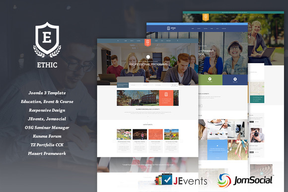 ETHIC Education Joomla Template