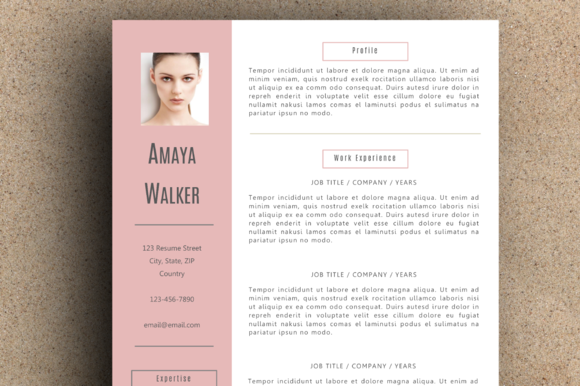 The Amaya Resume Pack Pink