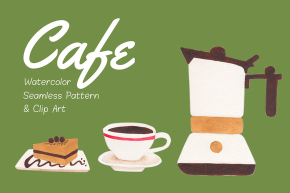 Cafe Pattern Clip Art Pack