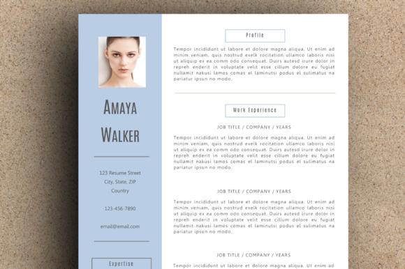 The Amaya Resume Pack Blue