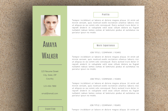 The Amaya Resume Pack Green