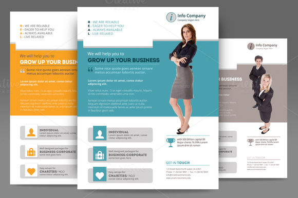 Corporate Flyer Or Poster Templates