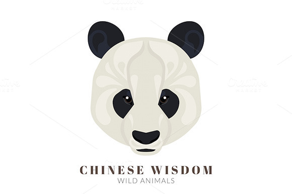 Vector Chinese Panda