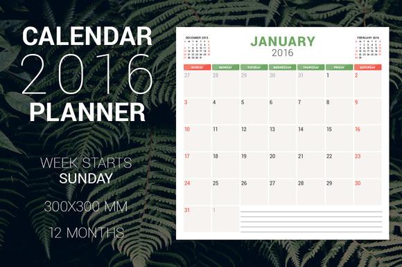 Calendar Planner 2016