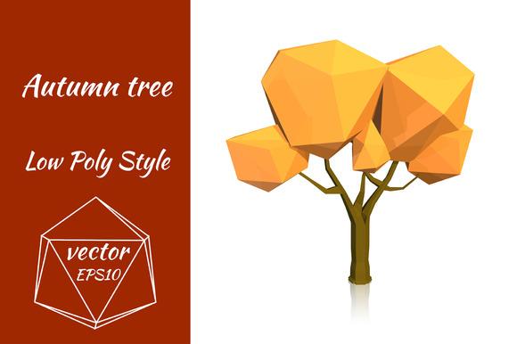 Yellow Autumn Tree Vector