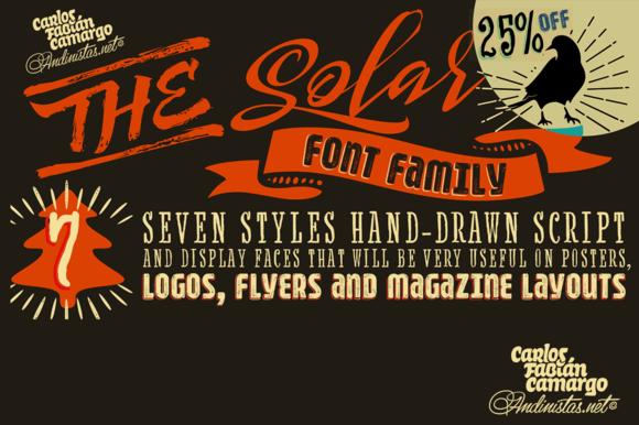 25% OFF Solar Font Family