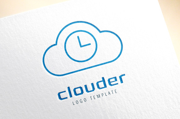 Cloud Icon Vector Logo Store App