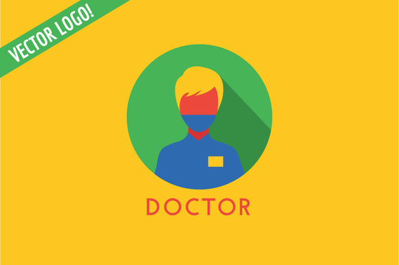 Doctor Icon Vector Logo Health