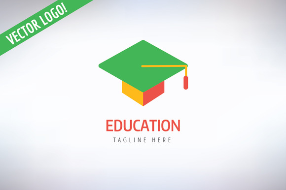 Graduation Hat Vector Logo Icon