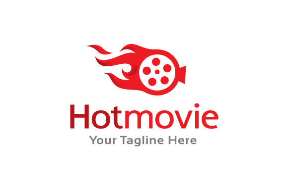 Hot Movie Logo Template