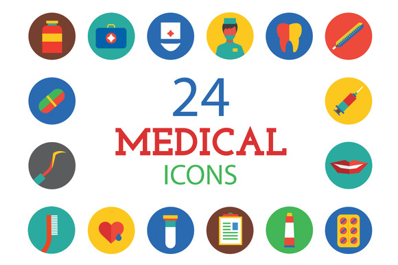 Medical Icons Set Health And Care