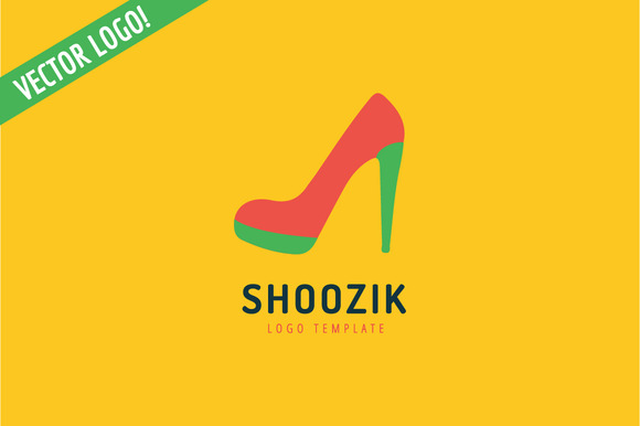Shoes Vector Logo Icon Style Cloth