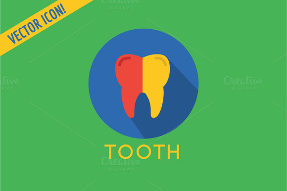 Tooth Icon Vector Icon Dental