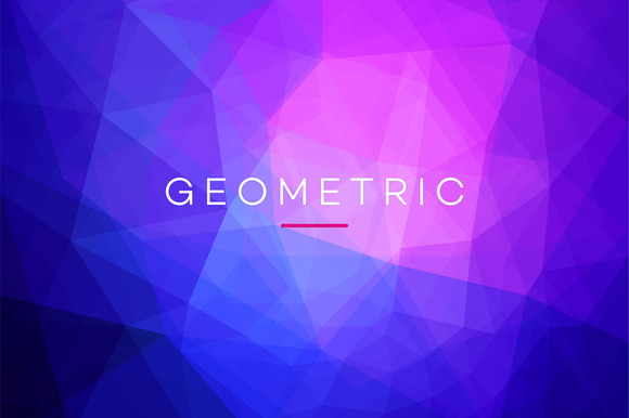 10 Geometric Polygonal Backgrounds