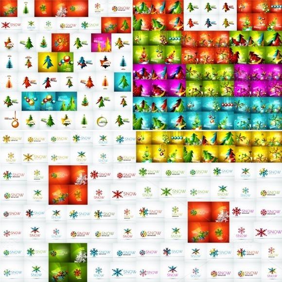 Huge Set Of Christmas Backgrounds